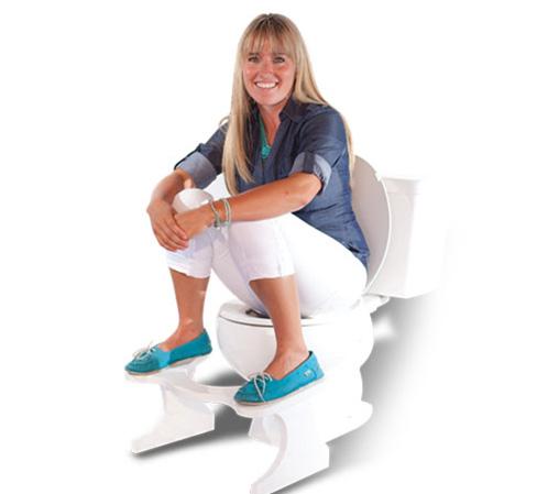 Posicion correcta de los pies sobre squatty potty